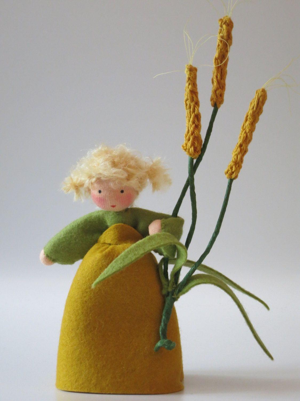 Wheat Girl Nature Table Waldorf inspired door KatjasFlowerfairys