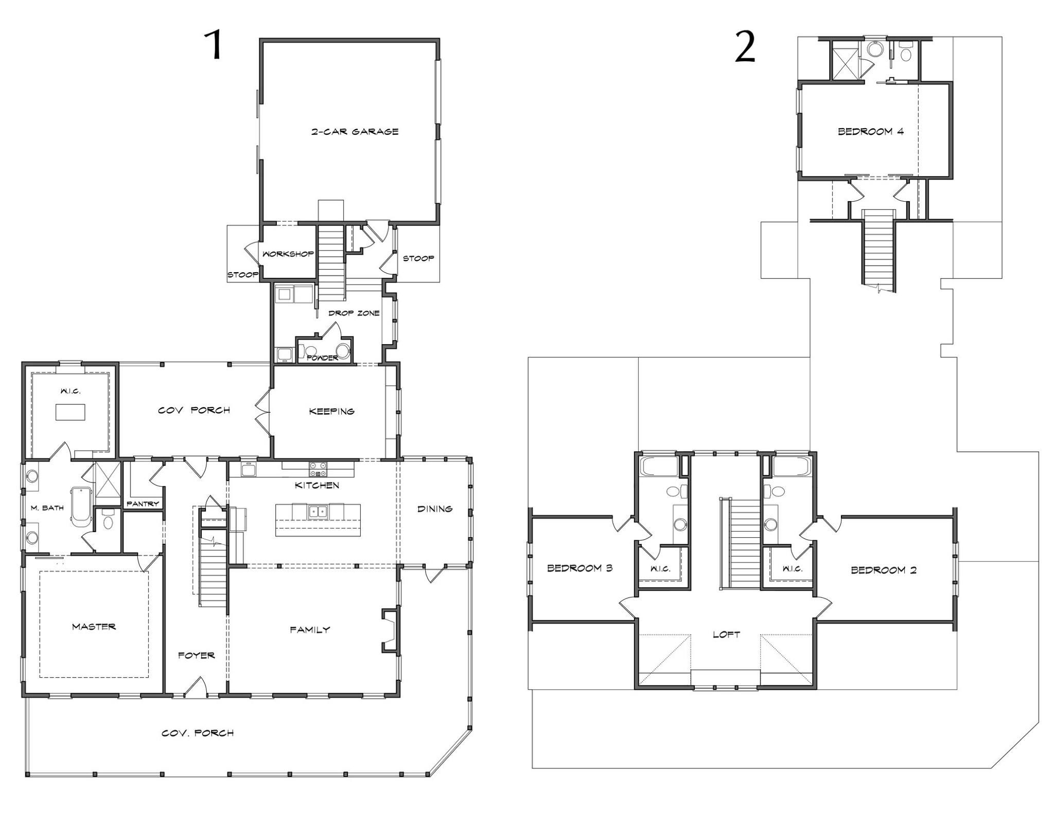 Floorplan for the Stonegate olivia Farmhouse – Farm House Floor Plan