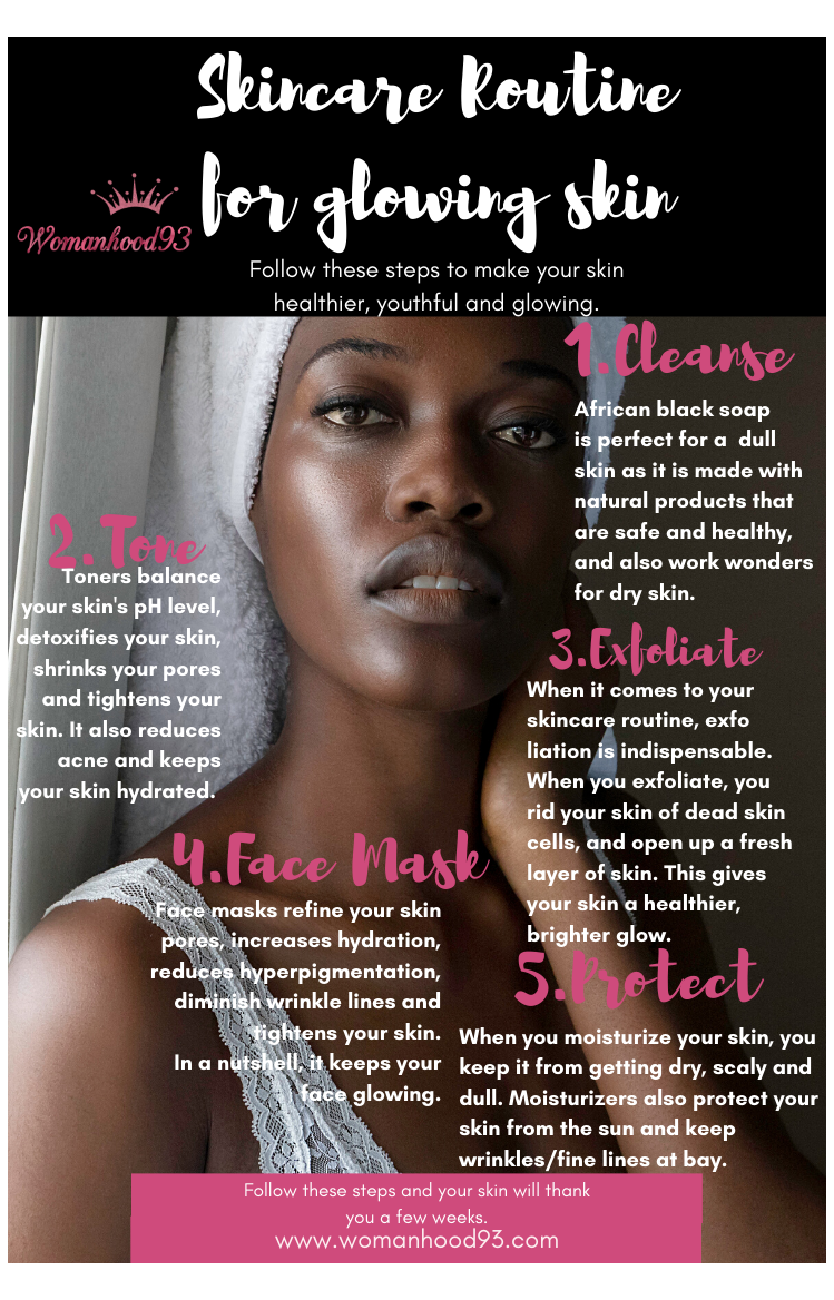 Dry Skin Care Routine For Black Women In 2020 Black Skin Care Dark Spots Skin Care Women Dry Skin Care