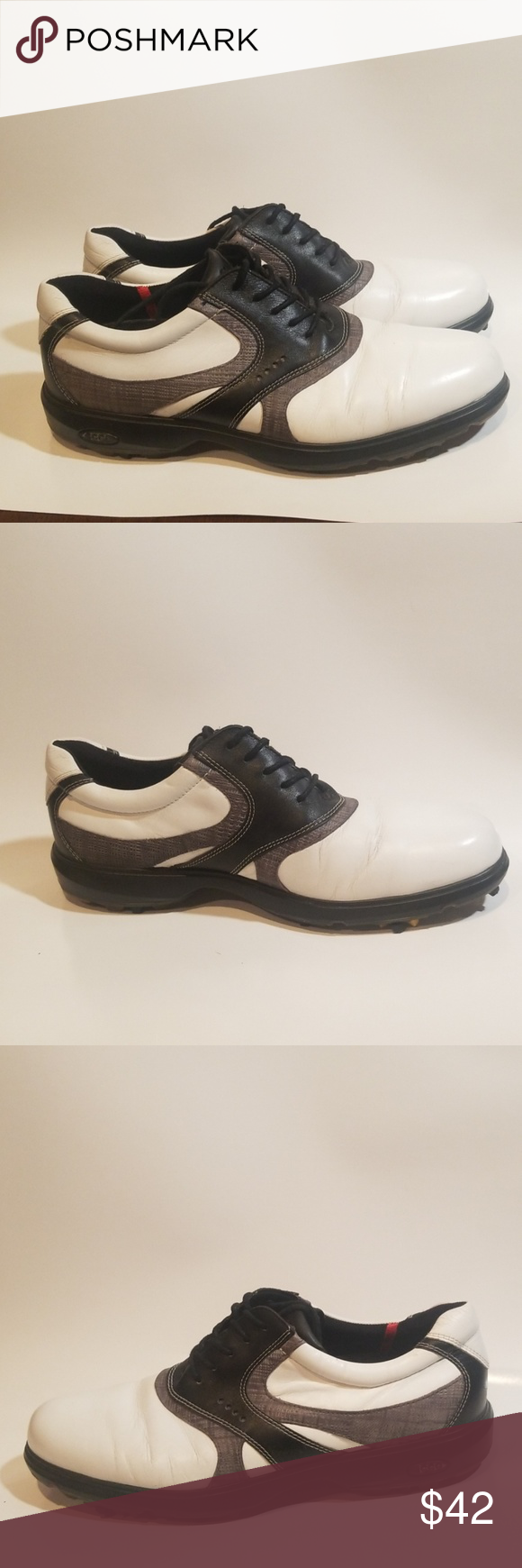 87104371cd21 ECCO MENS GOLF SHOE SIZE 42 In excellent condition. Some wear on spikes but  can be replaced. Nice shoe. Ecco Shoes Athletic Shoes