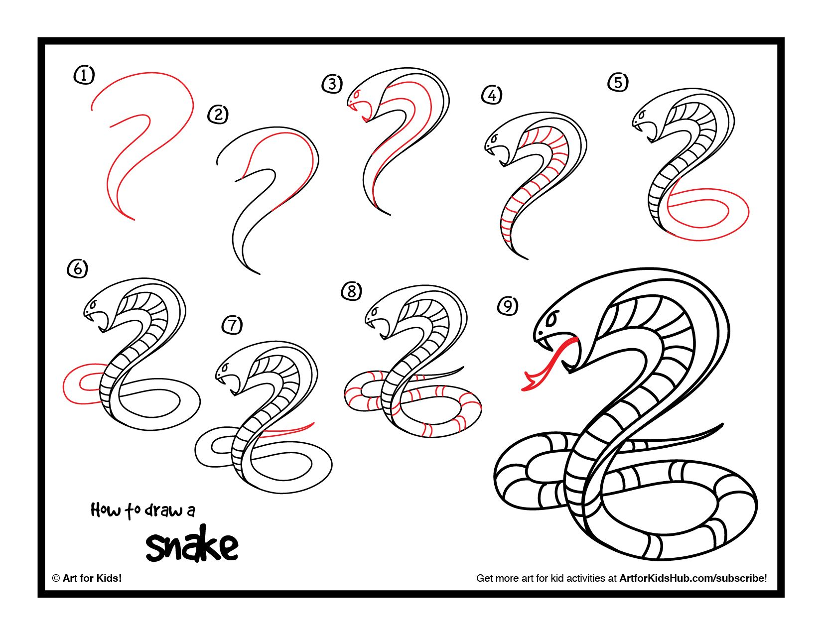 How To Draw A Snake - Art For Kids Hub - | Kid, How to draw and A ...