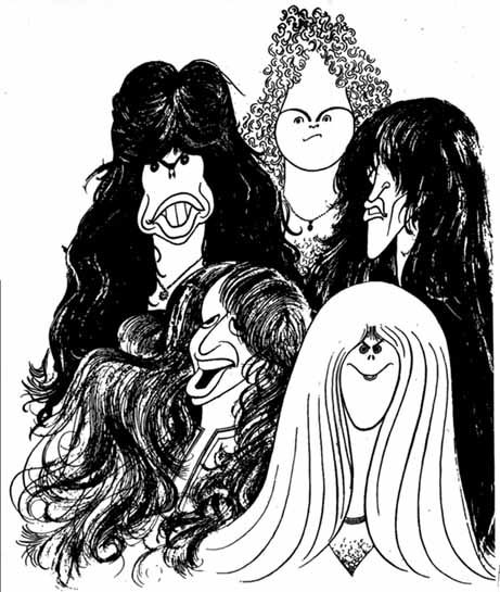 Art Hirschfeld Pen Drawing Of Aerosmith Finding His Daughters