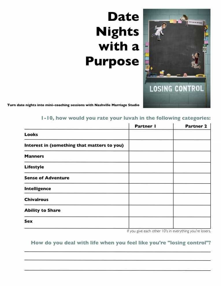 Free Marriage Counseling Worksheets and Marital Counseling
