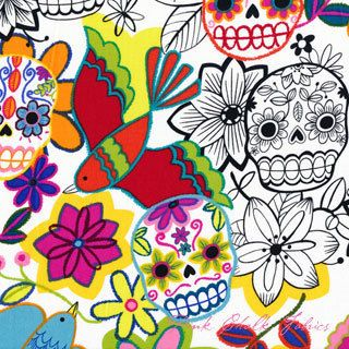 Calaveras alegres narural de La Retalera por DaWanda.com