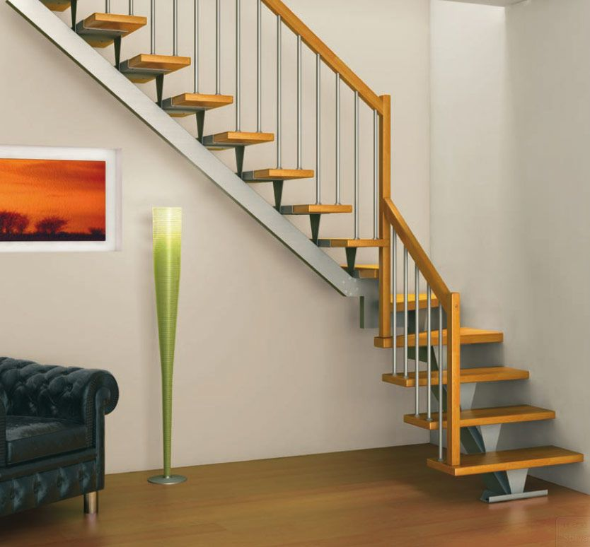 Stair Designs For Small Spaces: Fabulous Stairs Design For Small Space With  Wooden Handrail Idea And Cute Torchiere Floor Lamp Also Black Tufted Sofa  Set