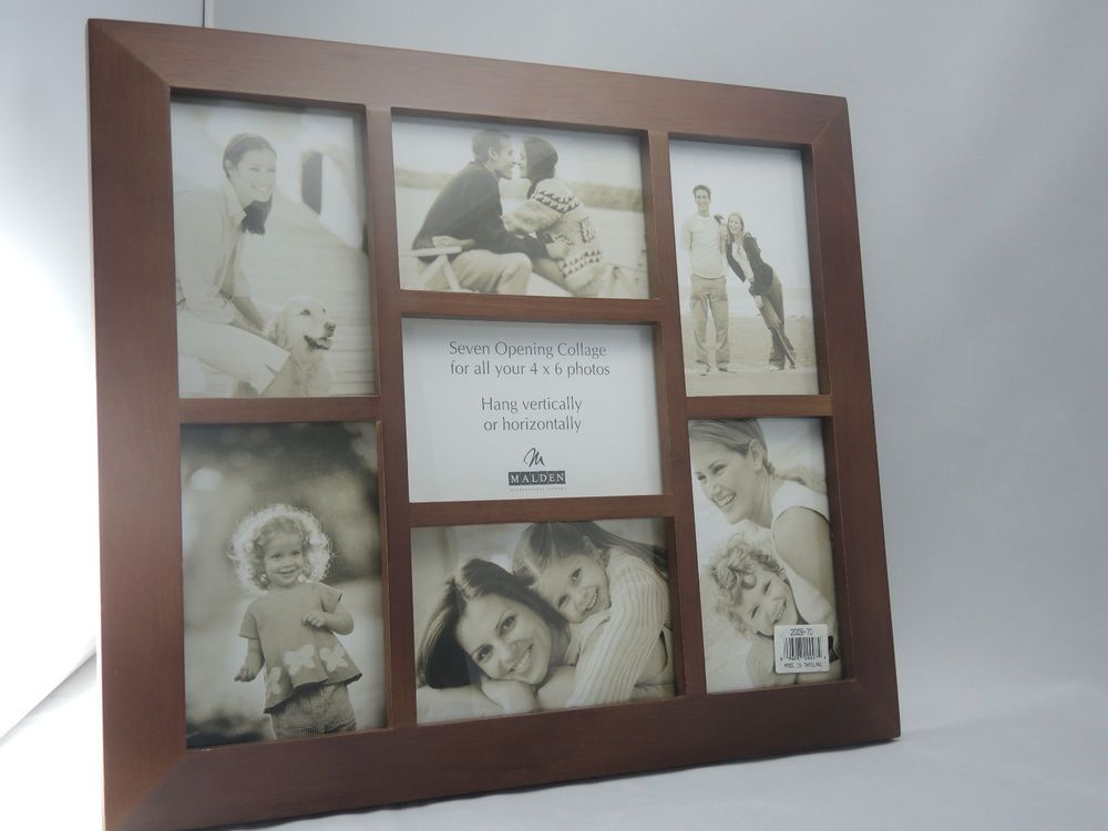 New Malden Brown 7 Opening Photo Collage Frame 7 openings, 4 x 6 ...