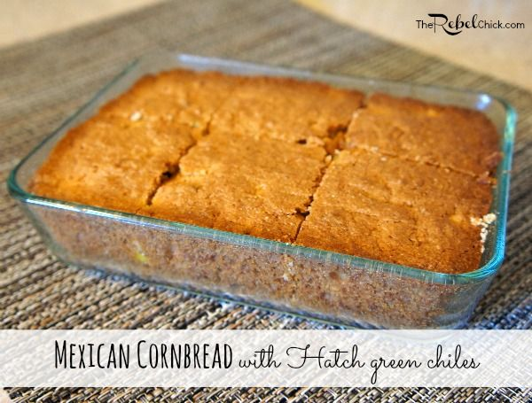 mexican cornbread with hatch green chiles