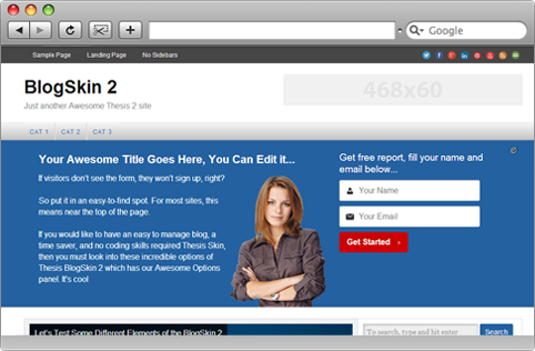 Download Free BlogSkin 2.0 Thesis Skin | WP Theme | Pinterest