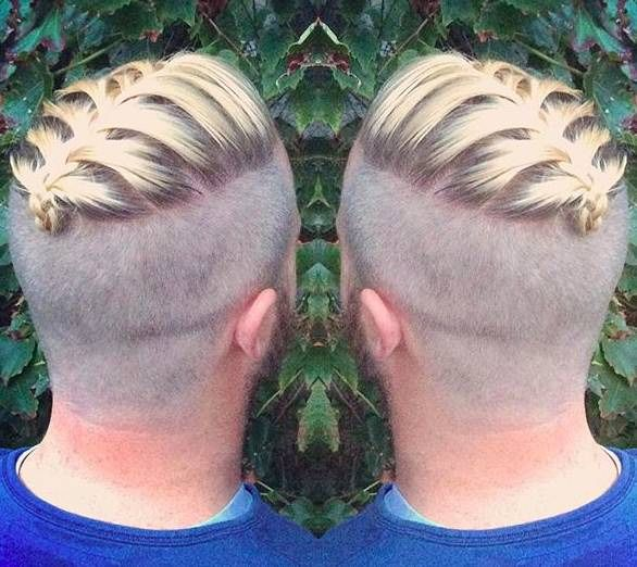 short man braid undercut hairstyle hipster pictures men