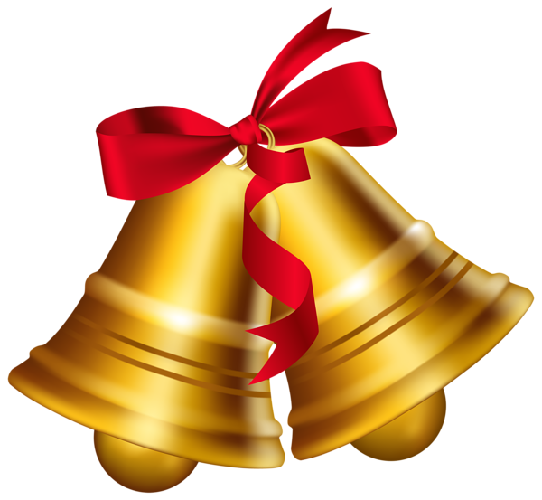 Christmas Bells with Bow PNG Clip Art Image | - Borders, Frames ...