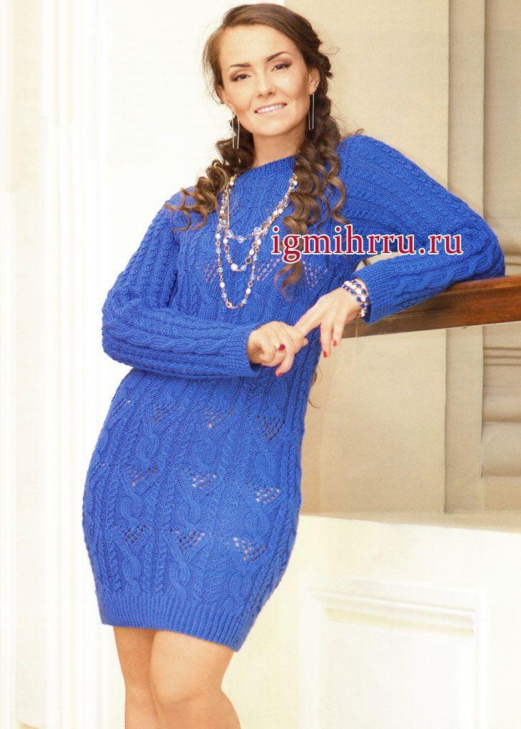 Вязание спицами узоры для платья
