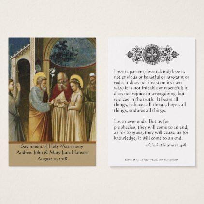A Catholic Wedding Prayer Favor Holy Card Groomgifts Groom
