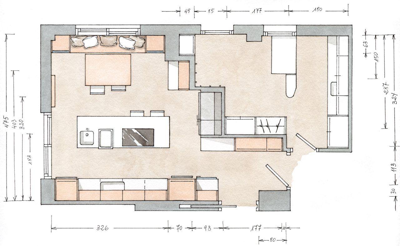 Planos cocina grande buscar con google ramp houses for Planos para fabricar cocinas integrales