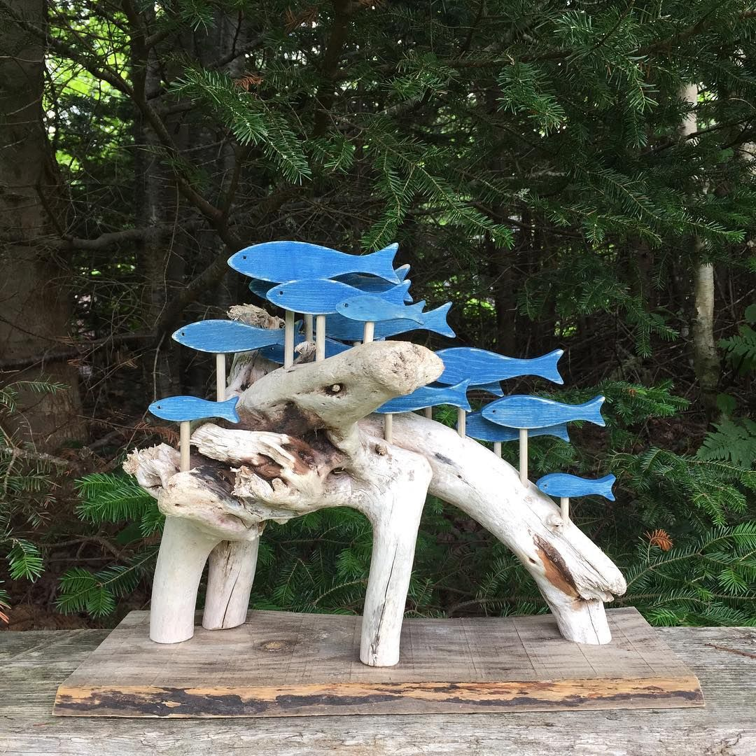 Deco Jardin Avec Branches D Arbres a school of fish on a beautiful piece of driftwood