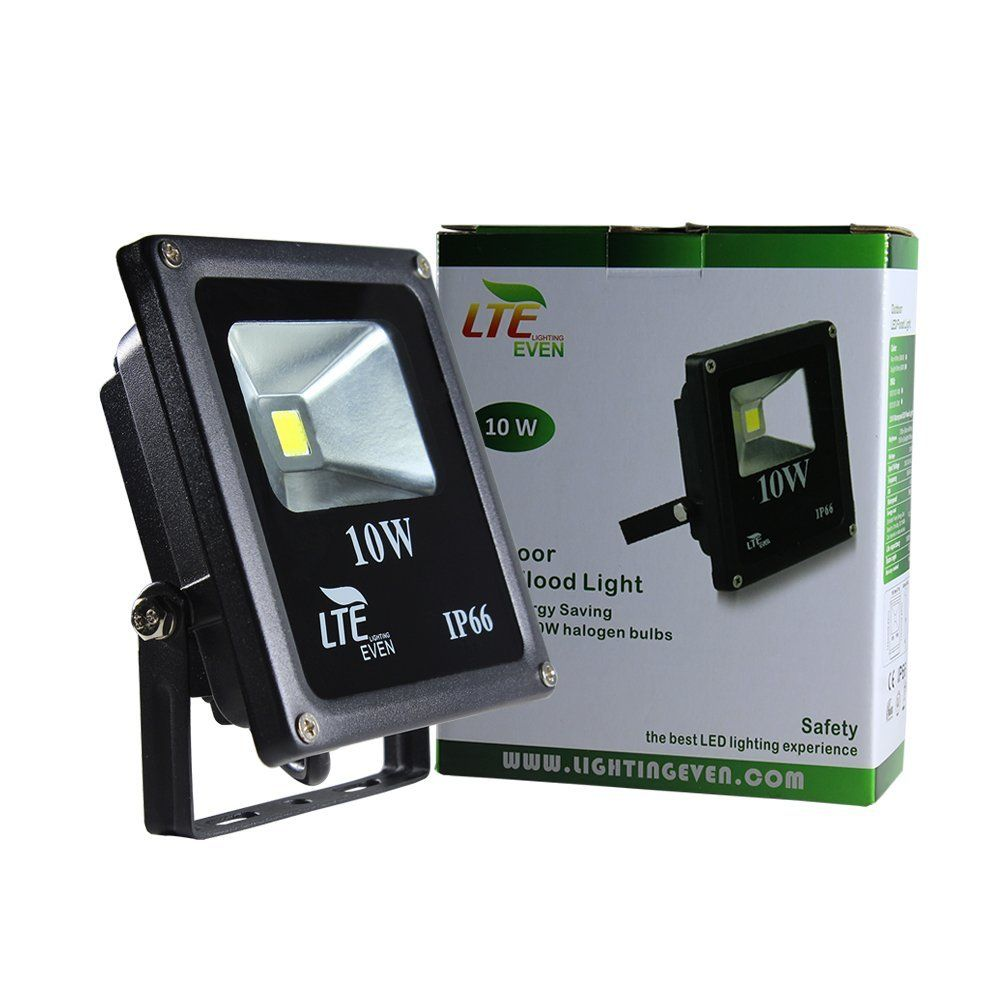 Lte 10w Super Bright Outdoor Led Flood Lights 750 Lumen 60w Halogen Bulb Equivalent Daylight Outdoor Flood Lights Led Flood Lights Security Lights