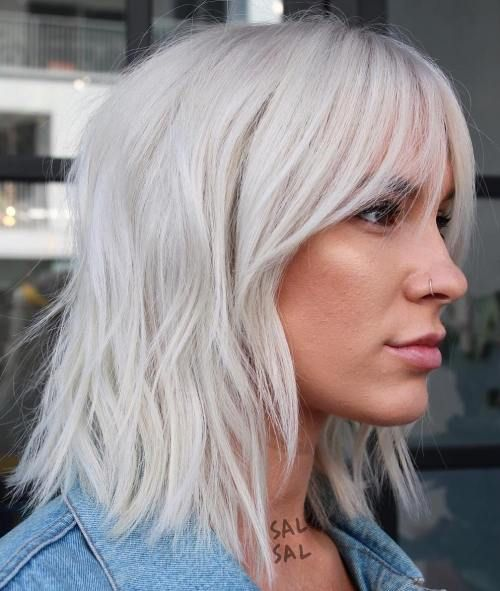 60 Fun And Flattering Medium Hairstyles For Women Medium Hair Styles Hair Styles Short Hair With Bangs