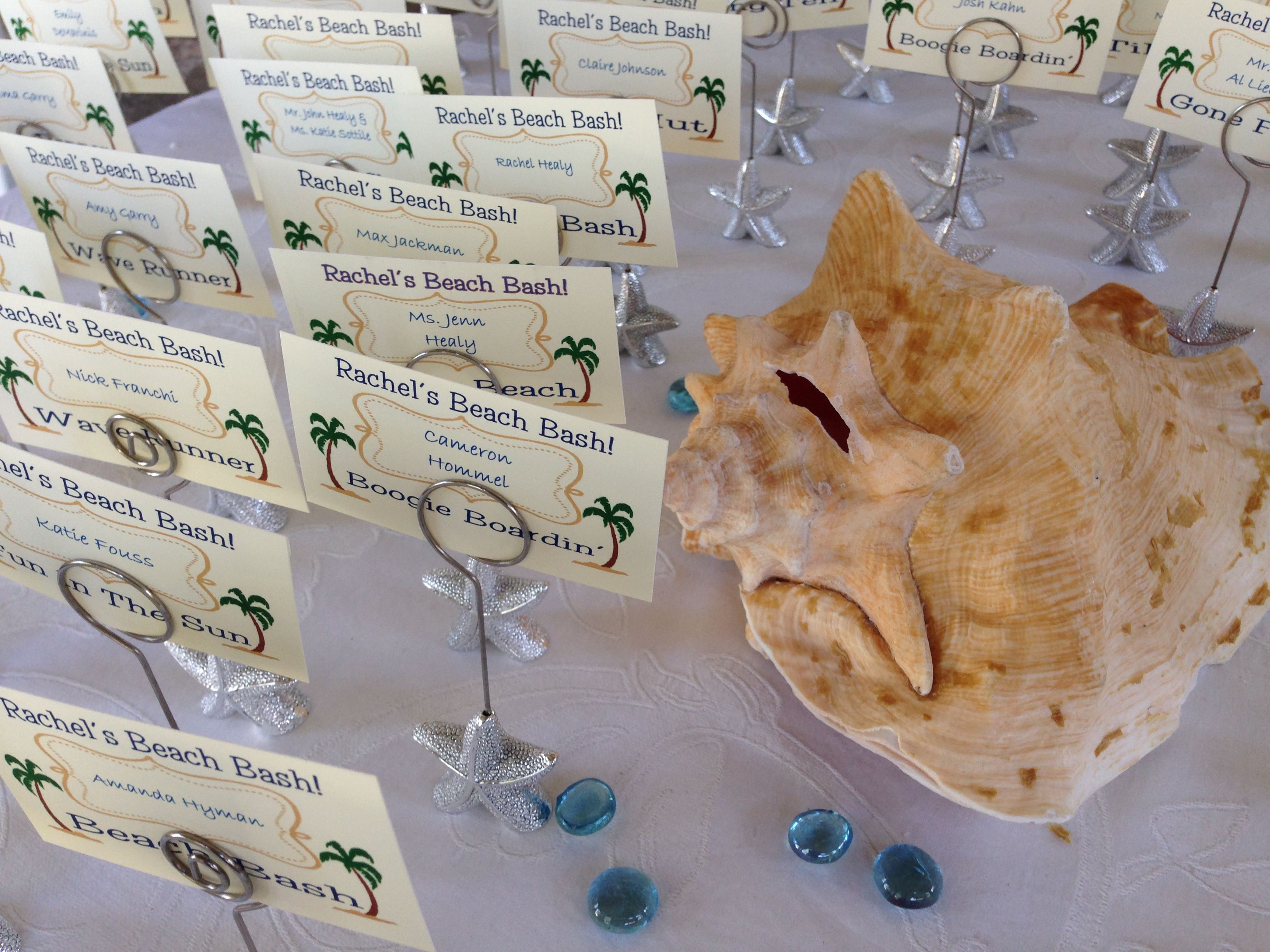 Starfish poem card - Silver Starfish Place Card Holders For A Beach Theme Bat Mitzvah