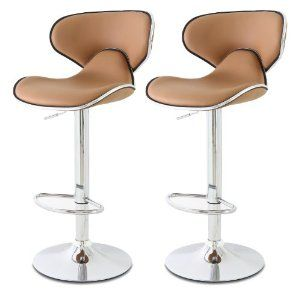 Elegant, modern kitchen barber bar stools in coffee color, Home Décor #PinAtoZ