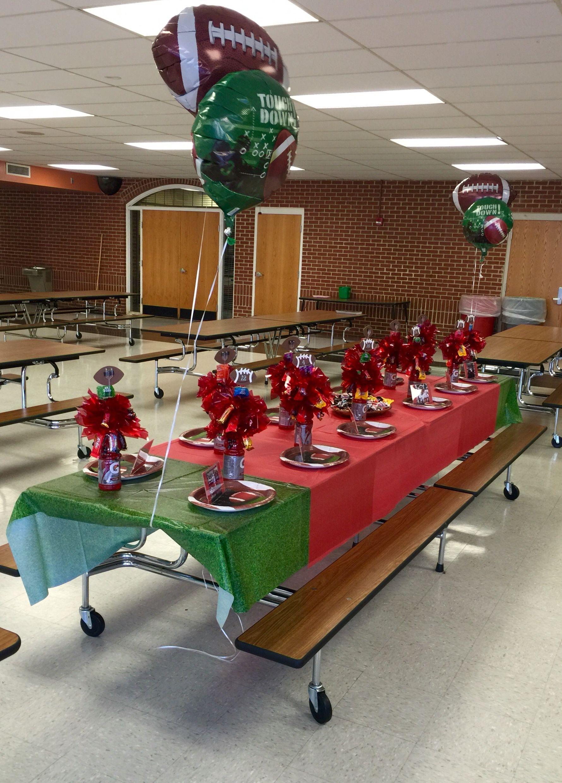 Football Senior Night table setup Team meal, Football