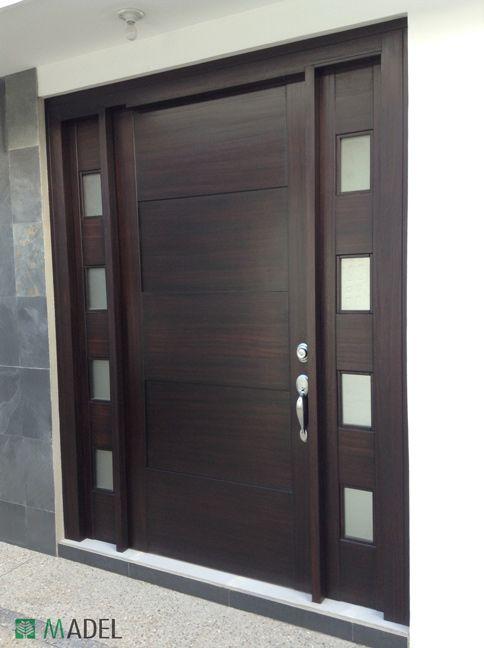 Puerta principal puertas pinterest puertas for Puertas de entrada de madera modernas