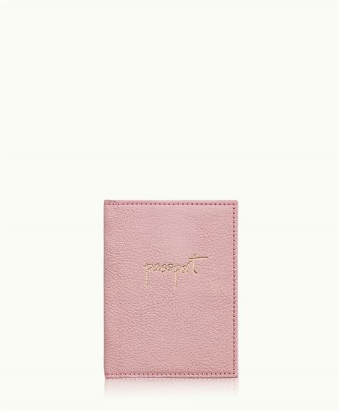 Pale Pink Passport Case Goatskin Leather Gi New York Pink