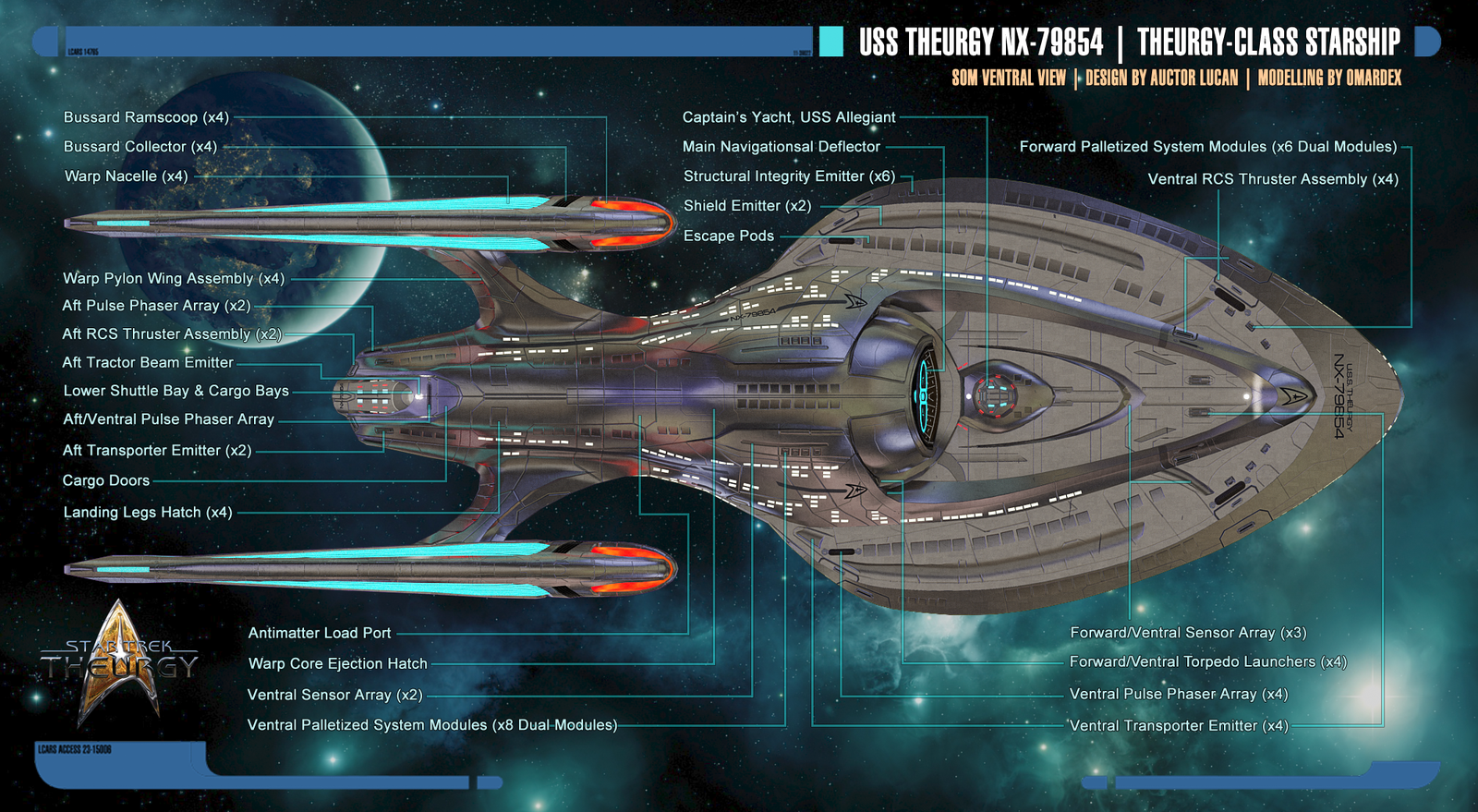 Excalibur Suite Floor Plan Theurgy Class Starship Schematics Ventral View By Auctor