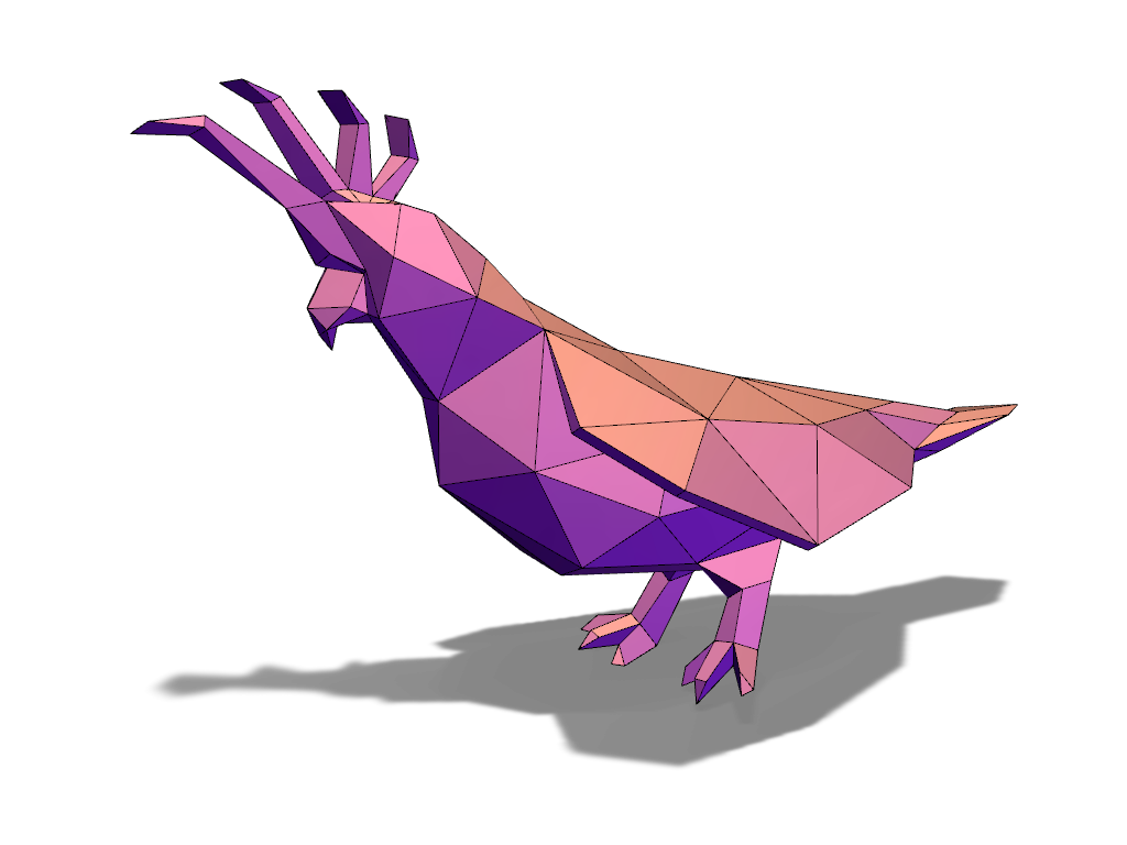 Lowpoly Cacadoo A 3d Model Created With Vectary The Free Online 3d Modeling Tool
