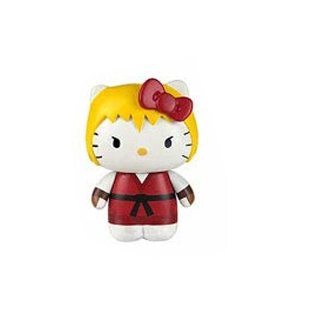 Hello Kitty Street Fighter Guile Mobile Plug Charm Figure NEW Toys Toynami