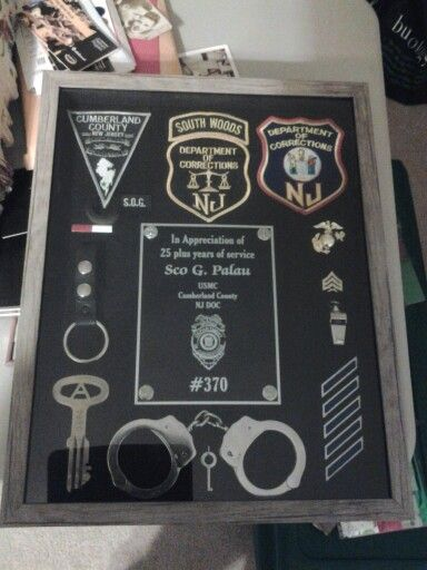 Shadow box correction officer NJ DOC