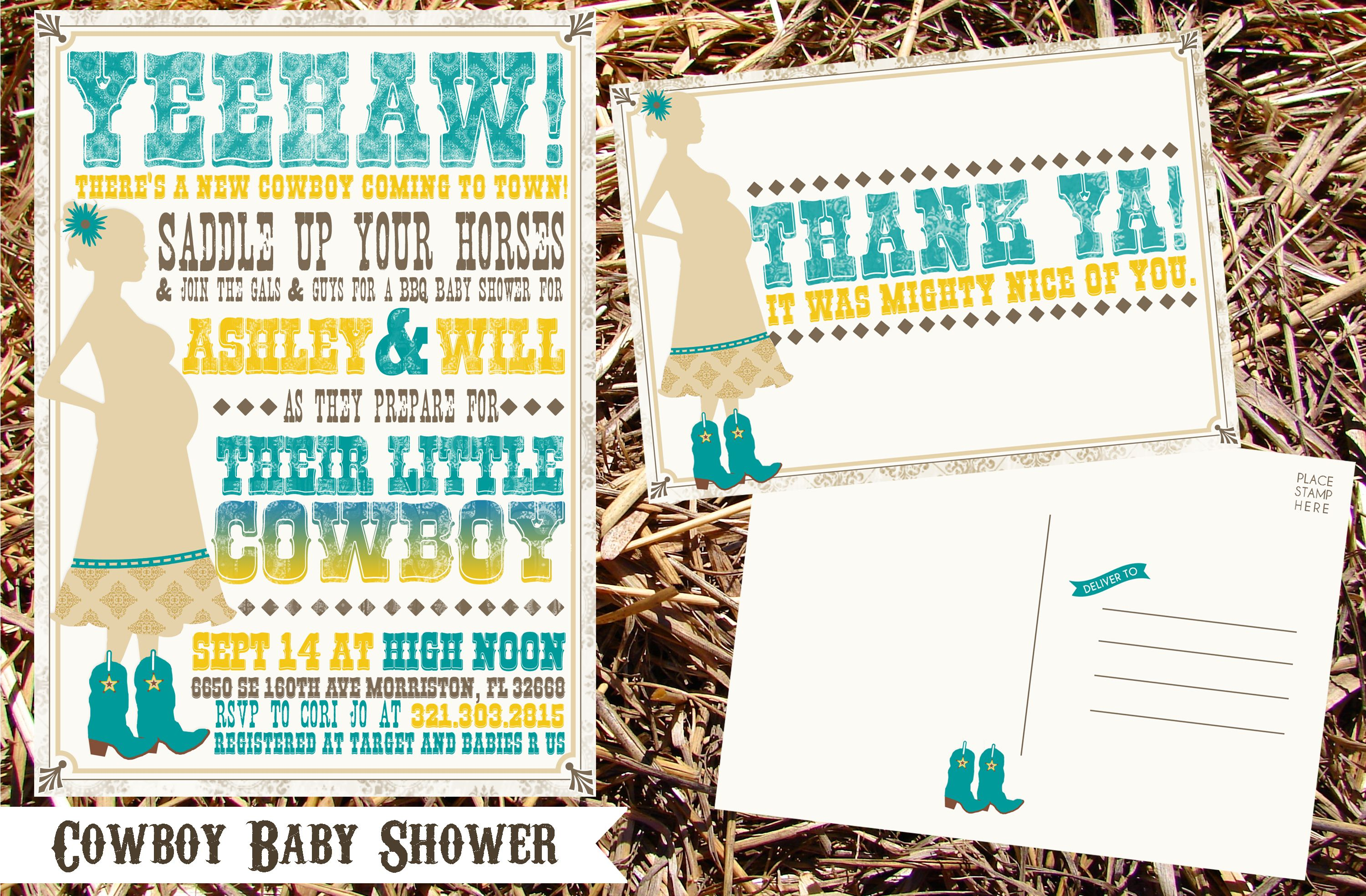 Cowboy Baby Shower Invitations & Thank You Notes Wwwkjpaperiecom