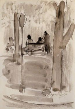 "Saatchi Art Artist Frederic Belaubre; Drawing, ""In the park"" #art"