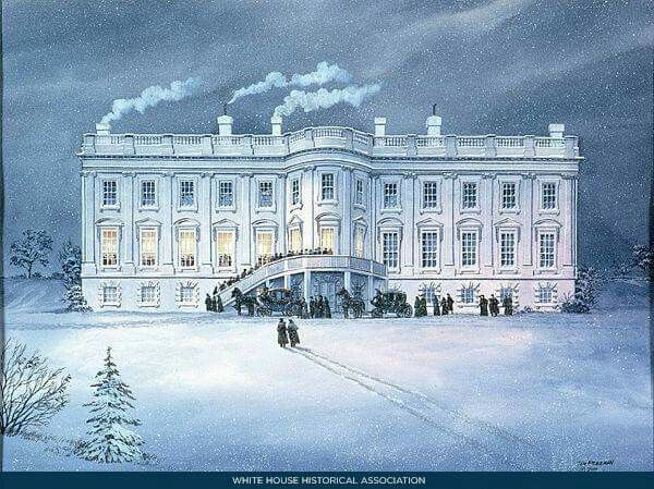 White House in 1800  Reception given by John and Abigail Adams - copy capitol blueprint springfield illinois