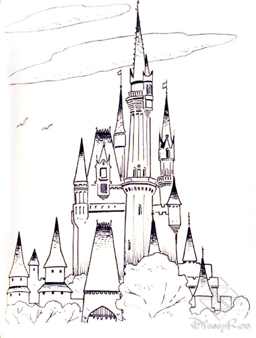 Disney Cinderella Castle Coloring Pages Castle Coloring Page Free Disney Coloring Pages Disney Castle