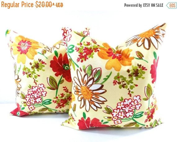 Attractive PILLOW SALE. Outdoor Pillow Cover. Floral By TwistedBobbinDesigns