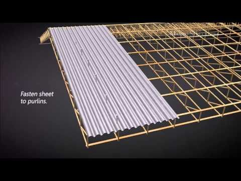 Suntuf And Diy Products Installation Overview Us English Youtube Metal Roof Installation Corrugated Metal Roof Roof Repair Diy