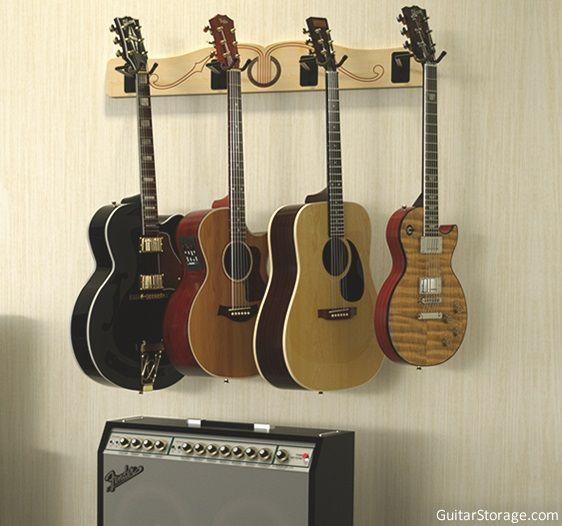 The Pro File Wall Mounted Multi Guitar Hanger Guitar
