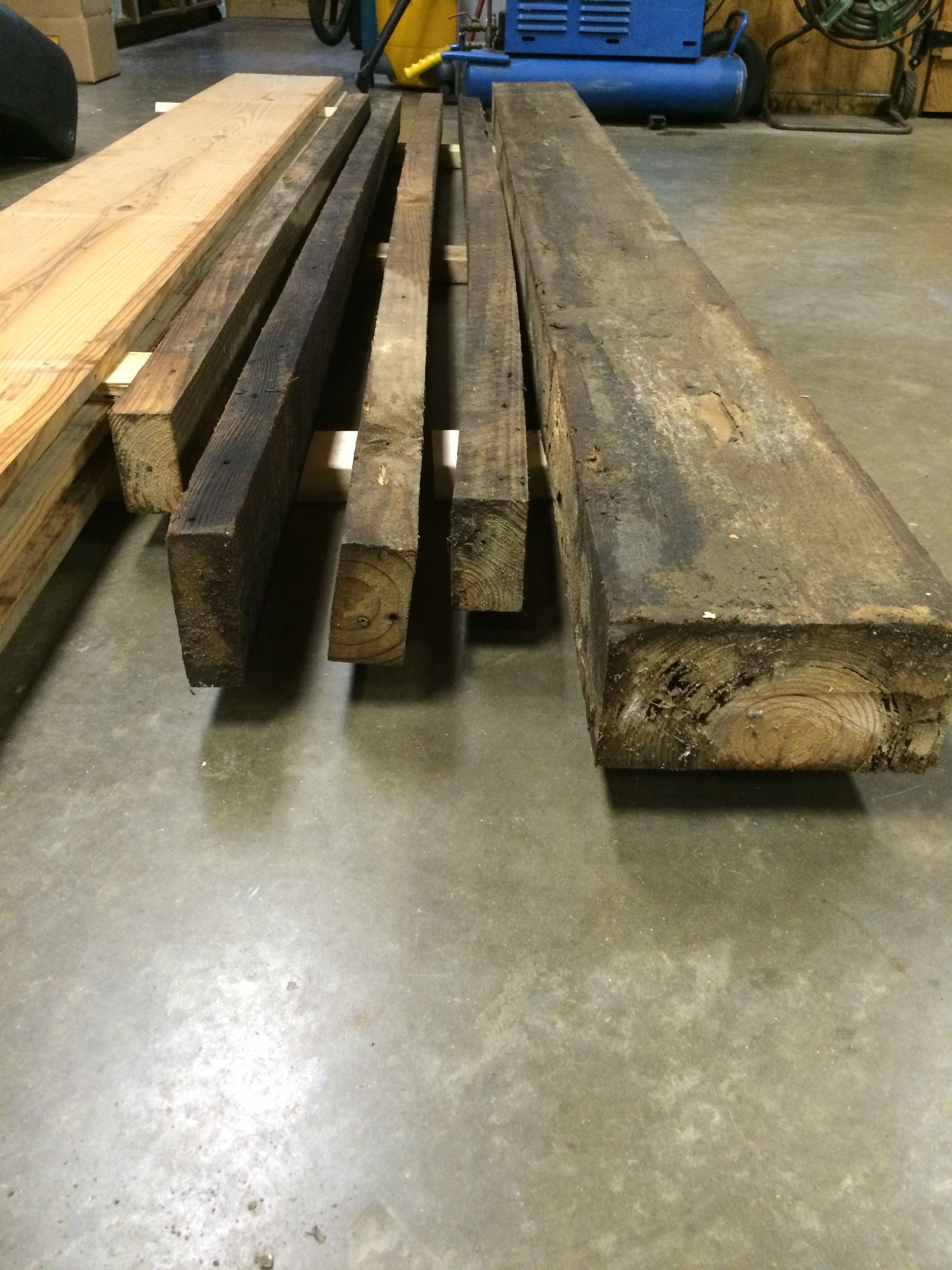 4x8 Pine Beam and 2x4 Pine Studs. These are actual dimensions unlike ...