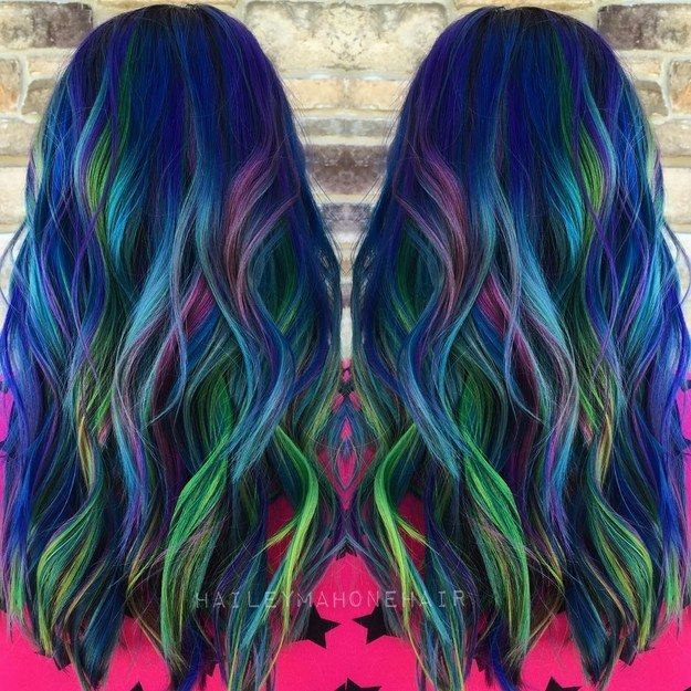 Peacock Blues Peacock Blue Peacocks And Hair Coloring - Peacock hairstyle color