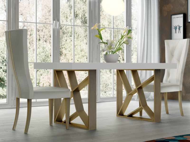 Extendable Dining Table With Wood Top Mod Linde Extendable Dining Table Home Decor Dining Table