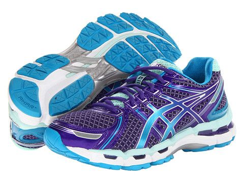 Asics Gel Kayano 19 Purple Island Blue Mint Zappos Com Free Shipping Both Ways Womens Workout Shoes Asics Asics Running Shoes