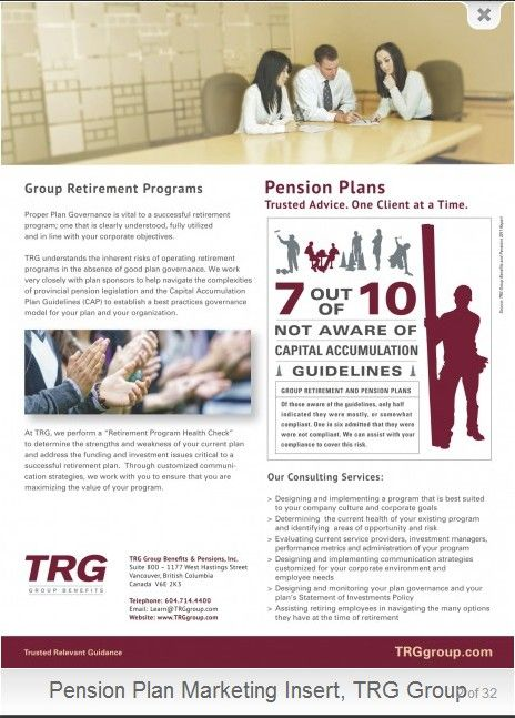 TRG Group Benefits - Group Retirement Programs Employee Benefits - retirement programs