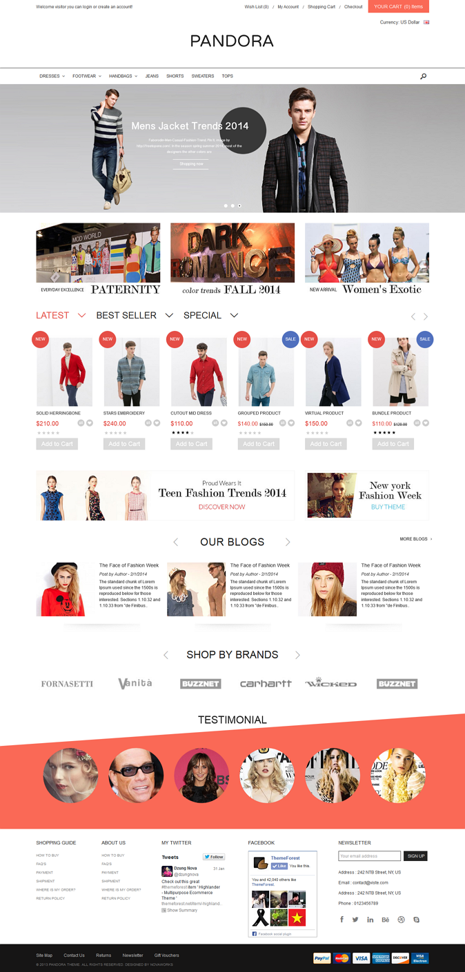 Pandora is fully responsive Opencart theme