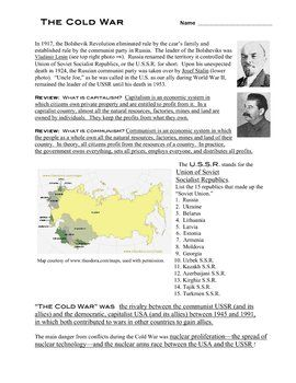 answer key for the cold war in a nutshell worksheet please see answer key for the cold war in a nutshell worksheet please see description