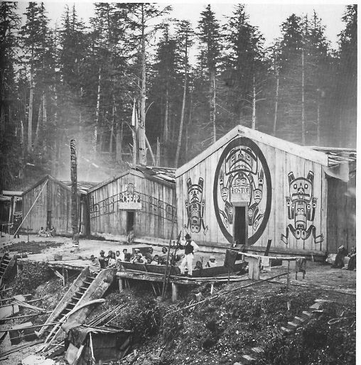 Kwakiutl plank house pacific northwest date 1905 for Pnw homes