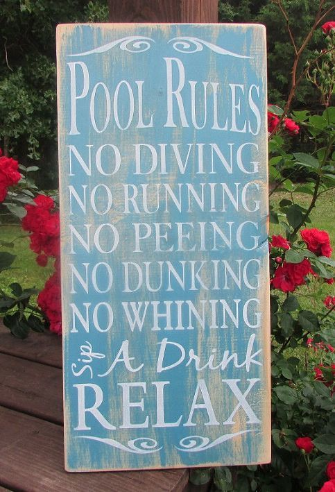 Country Decor Signs Inspiration Pool Rules Sign Primitive Pool Sign Primitive Country Decor Design Ideas