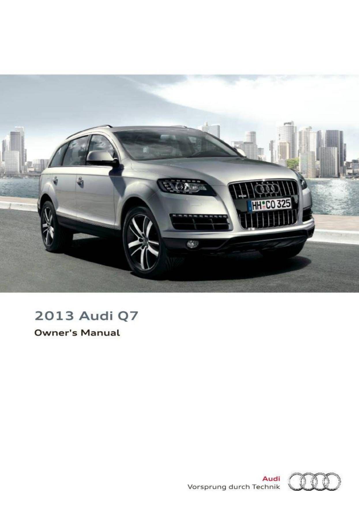 2013 audi q7 owner s manual 348 pages pdf cars vw audi rh pinterest com 2014 audi q7 owners manual pdf 2015 audi q7 owners manual