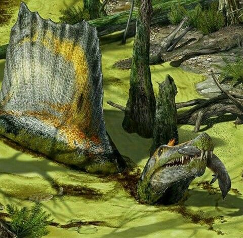 Permian swamp living | Spinosaurus, Prehistoric animals, Dinosaur pictures