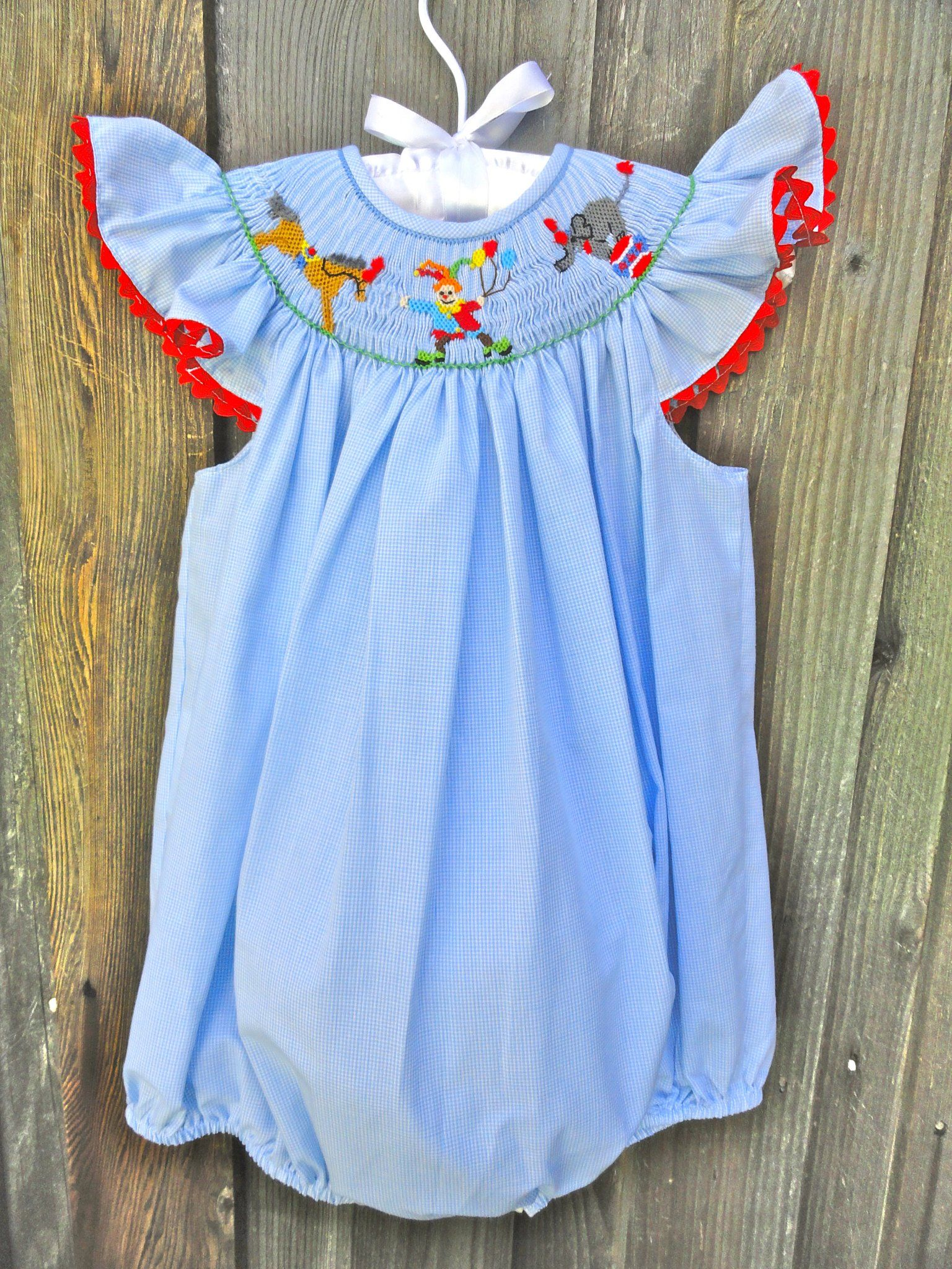 0018ed97cb8 Circus Smocked Bubble with horse