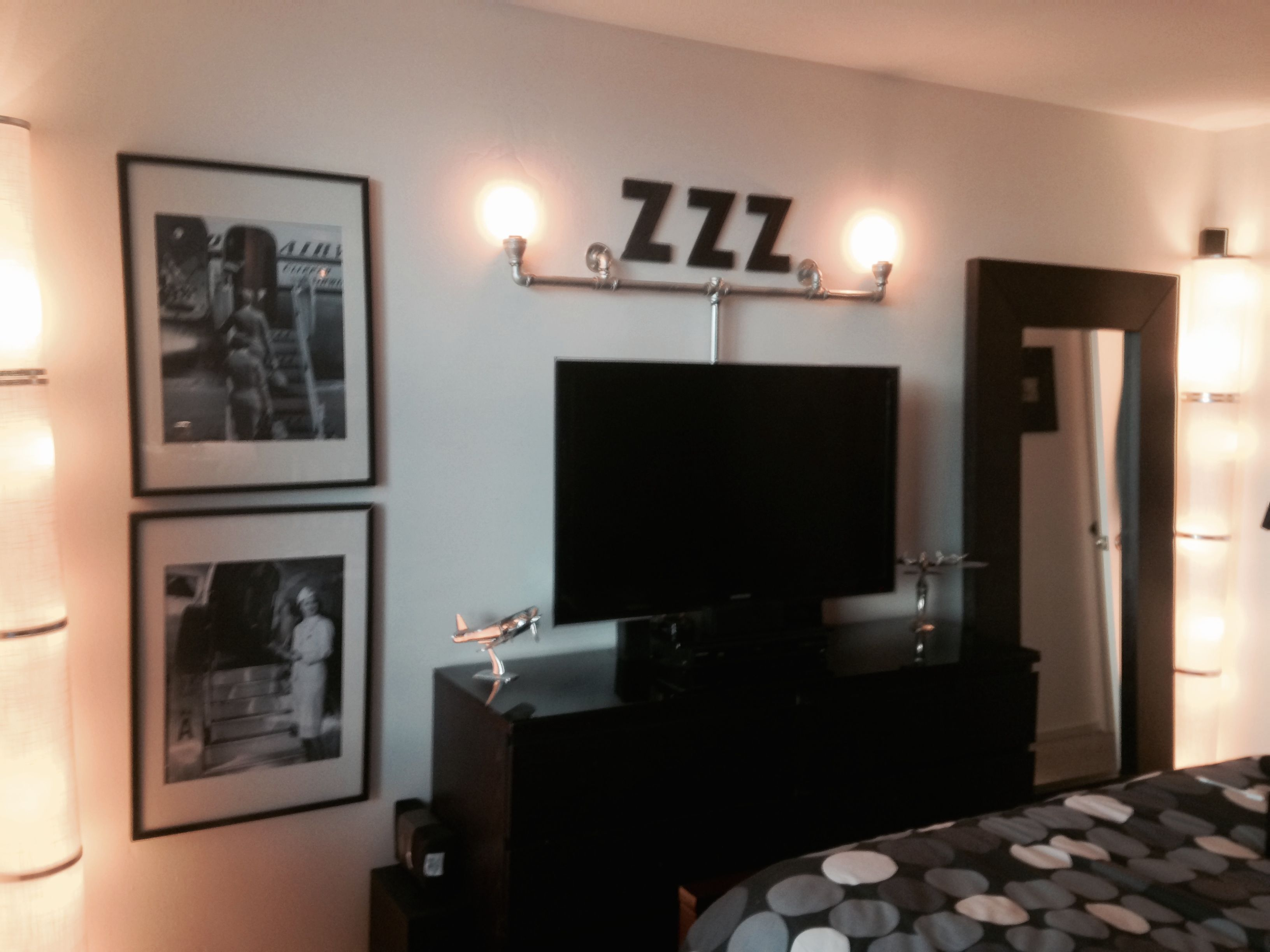 And all finished industrial chic bedroom lighting wall sconce