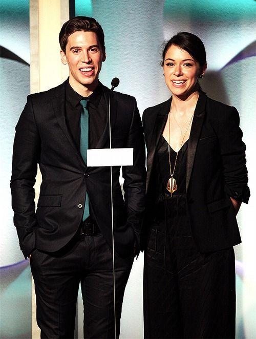 Jordan and Tat presenting at the GLAAD Awards